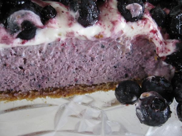 No-Bake Blueberry Cheesecake With Graham Cracker Crust - Pages, Pucks ...