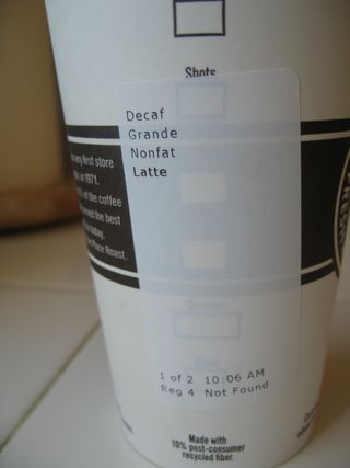 Starbucks label
