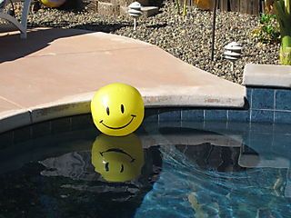 Smiley Face in Pool