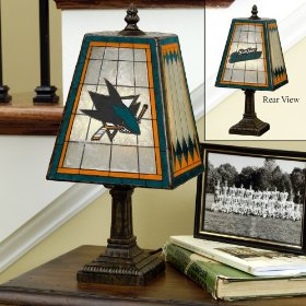 Sharks Stained Glass Table Lamp