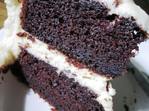 Guiness Cake with Baileys Cream Cheese Frosting