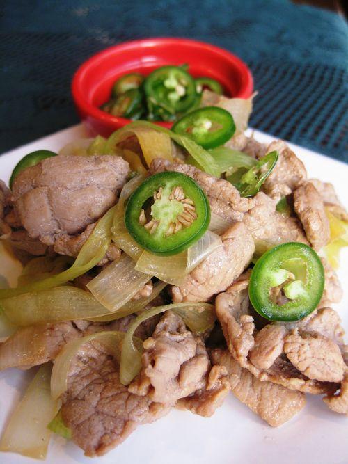 Gingered Pork With Leeks_1