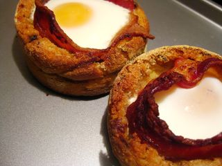 Baked Muffins Eggs and Bacon_1
