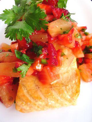 Salmon with Fruit Salsa_3