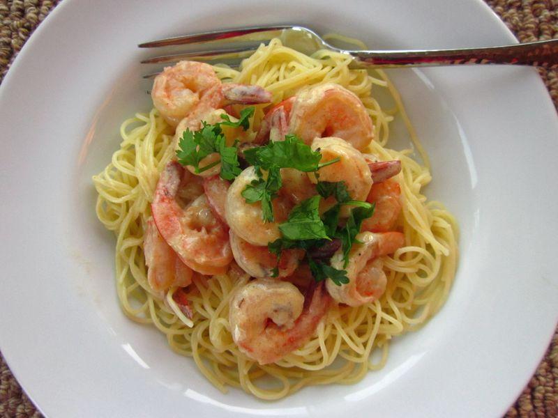 Shrimp in Chardonay sauce