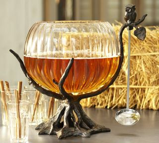 Owl Tree Punch Bowl Stand