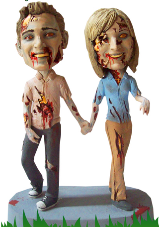 Date Night Zombie Bobbleheads