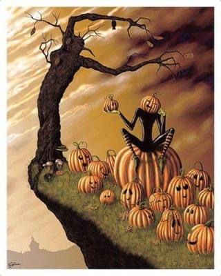 Sign - Countdown 20 - Pumpkin Tree Man