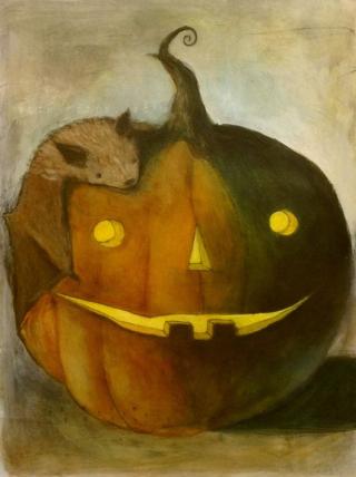 Bats and Pumpkin - 28 days