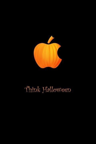 Sign - Think Halloween Apple