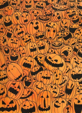 Sign - Countdown 24 - Pumpkin Fabric