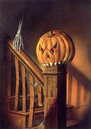 Sign - Countdown 23 - Pumpkin stair