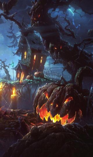 Sign - Countdown 18 - Pumpkin Tree House