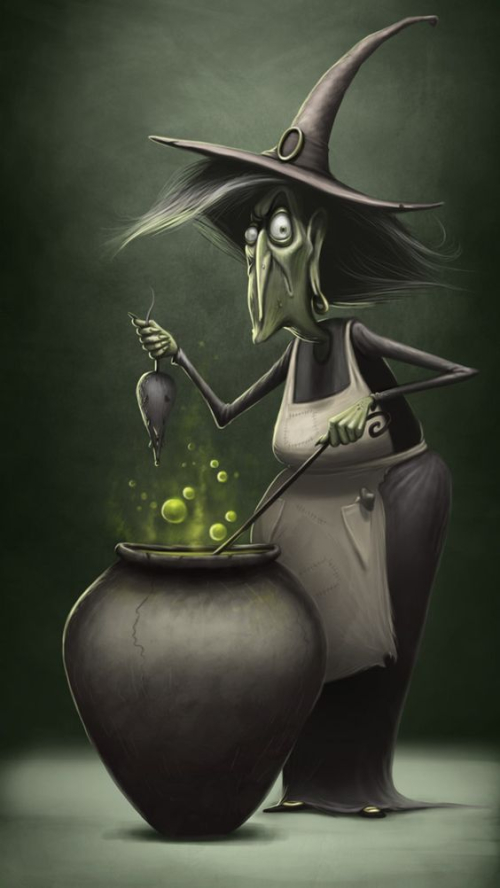 11-Witch with Green Rat