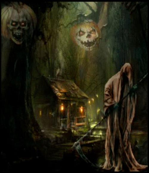 12-Clown Skeleton in Trees