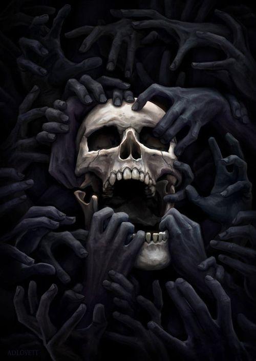 24-Skull Black Hands