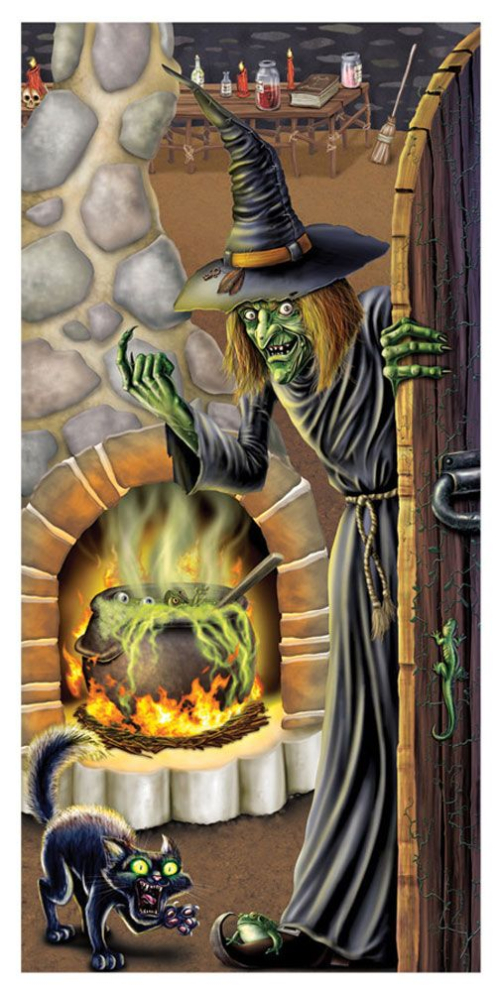 17-Green witch with cauldron