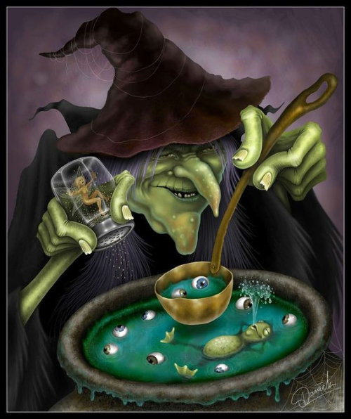 25-Witch frog in soup