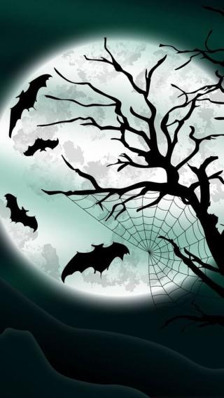 26-Bats and Moon