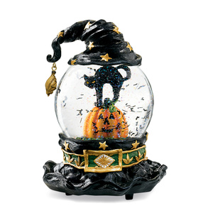 im not that fond of water globes but this one looked pretty cute and i think mr l has it headed our way actually its a musical water globe and when